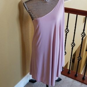 Dresses & Skirts - One shoulder very pale  pink blush dress